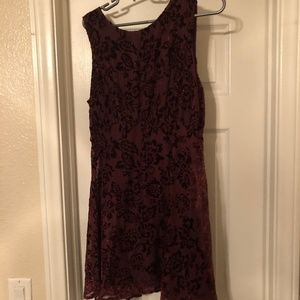 Free People Velvet Red Party Dress